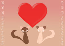 St. Valentine cats Royalty Free Stock Photo