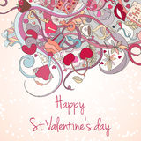 St Valentine day card Stock Image