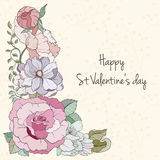 St Valentine day card Royalty Free Stock Image