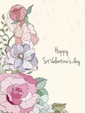 St Valentine day card Royalty Free Stock Images