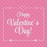 St Valentine Day Greeting Card di vettore in retro Fotografia Stock Libera da Diritti