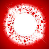 St.Valentine Day Heart  Background Stock Images