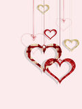 St Valentine day's greeting card Stock Images