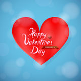 St Valentine greeting card design with heart shape Stock Photos