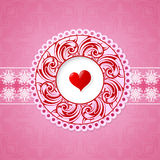 St Valentine greeting card design Stock Photo