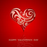 St Valentine greeting card design Royalty Free Stock Photo
