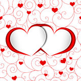 St Valentine Heart Shape Background Illustration de Vecteur