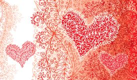 St. Valentine Love Red Heart Card Imagenes de archivo