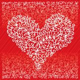 St.Valentine Love Red Heart Card IV Royalty Free Stock Photo