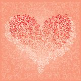 St. Valentine Love Red Heart Card V Fotos de Stock Royalty Free