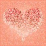 St Valentine Love Red Heart Card V Fotografie Stock Libere da Diritti