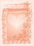 St.Valentine miłości serca Czerwona karta III Obrazy Royalty Free