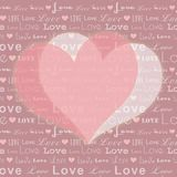 St Valentine pink white heart shape Royalty Free Stock Photos