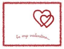 St.Valentine' postcard. 3d render of fur valentine's postcard Stock Photography