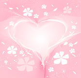 St. Valentine`s background. With heart Stock Images