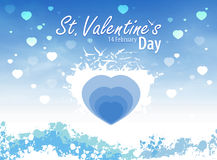 St. Valentine's background Stock Images