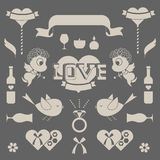 St valentine's day. A vector icon set Royalty Free Stock Photography