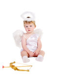 St. valentine's day angel boy Royalty Free Stock Photos