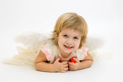 St. valentine's day angel girl Royalty Free Stock Photos