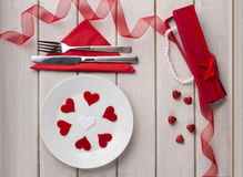 St Valentine`s day. Arranged valentine Stock Image