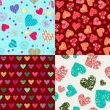 St Valentine`s day backgrounds Doodle Hand Drawn Valentine Hear. Doodle Hand Drawn pattern Valentine Hearts, Romantic Decor for wallpaper, wrapping paper Stock Image