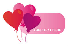 St. valentine's day banner Royalty Free Stock Photo