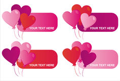 St. valentine's day banners Royalty Free Stock Images