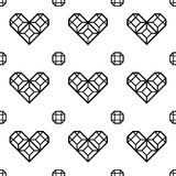 St. Valentine's Day black and white pattern Stock Photography
