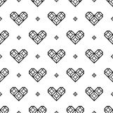 St. Valentine's Day black and white pattern Royalty Free Stock Photo