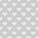 St. Valentine's Day black and white pattern Royalty Free Stock Photography