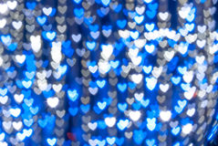 St. Valentine's Day blue heart background Royalty Free Stock Photo