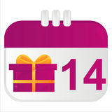 St. valentine's day calendar icon Royalty Free Stock Photo