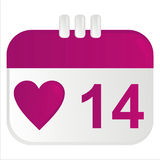 St. valentine's day calendar icon Stock Photography