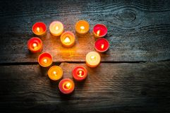 St Valentine's day candles Royalty Free Stock Photography