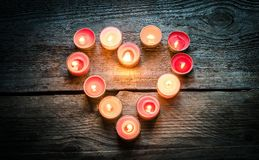 Free St Valentine S Day Candles Royalty Free Stock Photos - 37611328