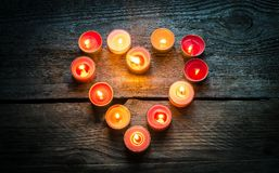 St Valentine's day candles Royalty Free Stock Image