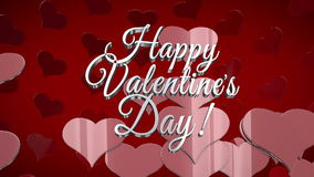 St. Valentine's day celebration. St. Valentine's day animated hearts and text stock video footage