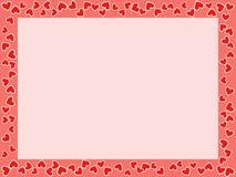 St.Valentine's Day frame Stock Images