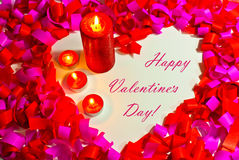 St. Valentine's day greeting background Royalty Free Stock Photography