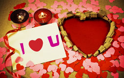 St. Valentine's day greeting background Stock Image