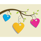 St. Valentine's day greeting card with hearts Royalty Free Stock Photos