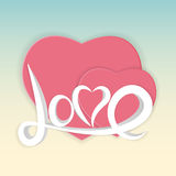 St Valentine s Day Greeting Card Vector Illustration Stock Photos
