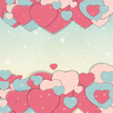St Valentine s Day Greeting Card Vector Illustration Royalty Free Stock Image