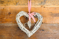 St Valentine's day hand made heart Royalty Free Stock Photography