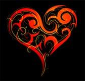 St. Valentine`s Day heart-shape Stock Photography