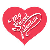 St. Valentine's day - Heart shape with text Stock Photography