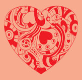 St. Valentine`s Day - Heart symbol Stock Images