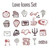 St Valentine`s Day Icon Set Stock Photo
