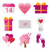 St. valentine's day icons Stock Photos