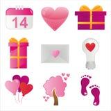 St. Valentine S Day Icons Stock Photos